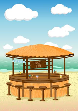 海辺のビーチ バーのベクター イラストです。