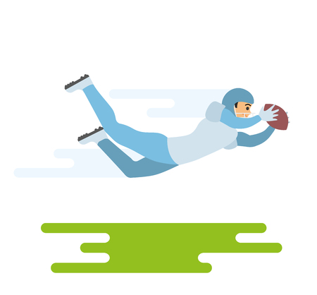 American football player. Vector flat character illustration