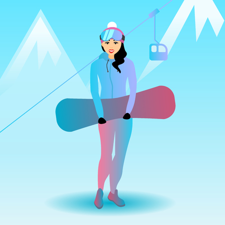 Snowboard female character