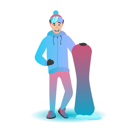 Snowboard character Illustration