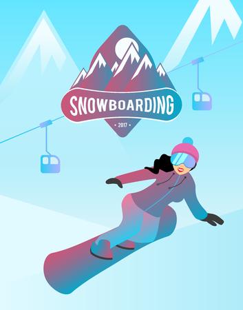 Snowboarden vectorillustratie.