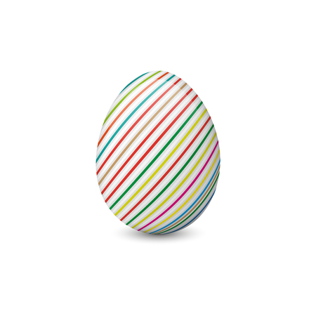 Painted or decorated Easter egg isolated on the white background. Vector illustration. Holiday symbol, element or object. Illustration