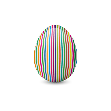 Colorful, painted and decorated Easter egg isolated on the white background. Vector illustration. Holiday symbol, element or object. Illustration