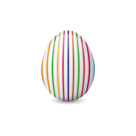 Painted and decorated Easter egg isolated on the white background. Vector illustration. Easter symbol, element and object.