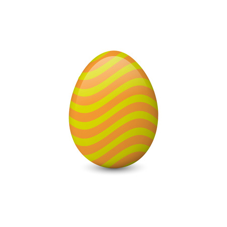 Decorated and painted Easter egg isolated on the white background. Vector illustration. Easter symbol, element, object. Illustration
