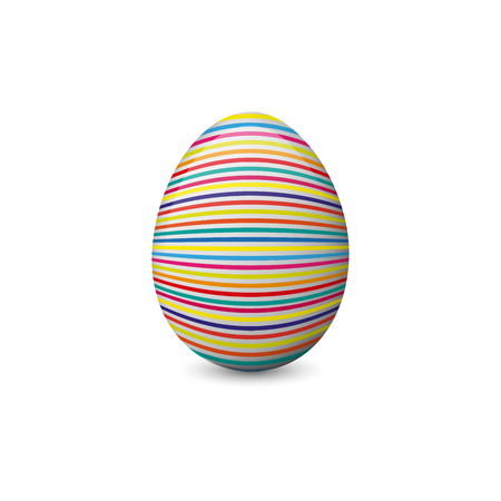 Vector illustration of the painted or decorated Easter egg isolated on the white background. Holiday symbol, element or object.