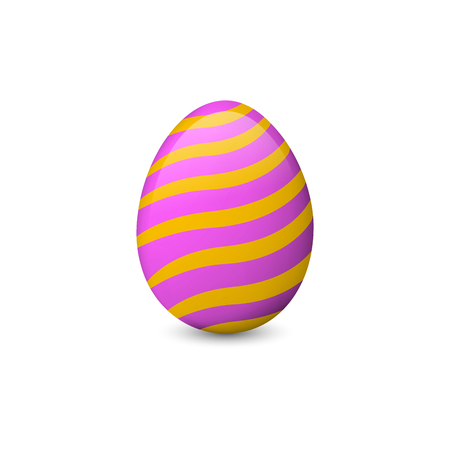 Painted Easter egg isolated on the white background. Vector illustration. Easter object or symbol.
