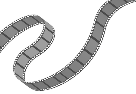 Filmstrip roll. Cinema and movie element or object. Vector illustration isolated on the white background. Illustration