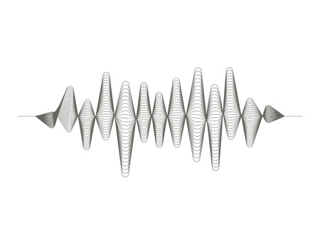 Vector music sound wave pattern on white background Illustration