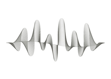 Vector music sound wave pattern on white background. Audio equalizer illustration