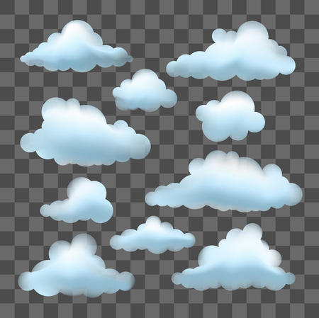 Set of Clouds icon
