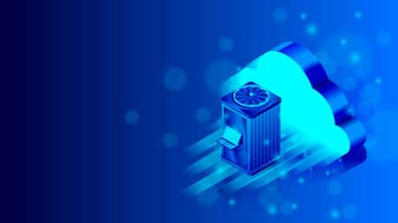 Isometric cloud storage services concept. Vector illustration 免版税图像 - 151947001