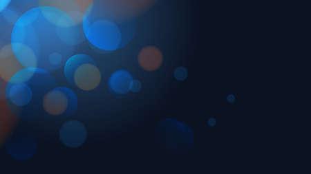 Dark blue shining bokeh illustration. Vector background