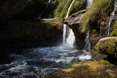 Forest Waterfalls of Navacelles in Southern France photo