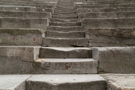 theatrics: Ancient Theater Stairs Stock Photo