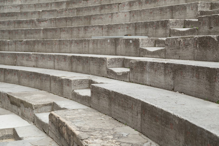 theatrics: Ancient Stone Theater Stairs and Row of Seats