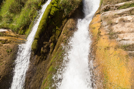 churning: Churning Whitewater at Waterfalls of Navacelles in Southern France