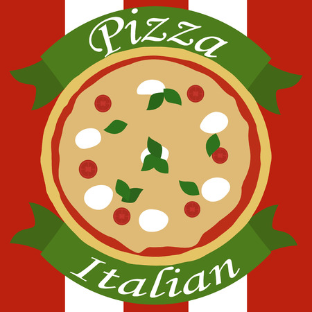 The image of italian pizza with description