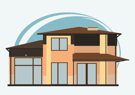 High Quality Illustration Von Cute Cartoon Bunte Häuser Zum Verkauf Oder Miete. Vektor  Flache Gebäude Illustration Standard
