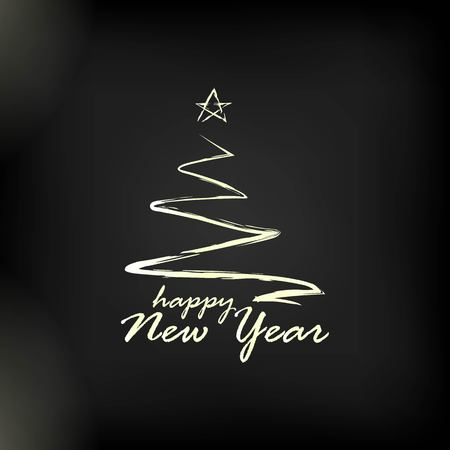 2019 golden New Year sign with golden glitter on black background. Vector New Year illustration. Ilustrace