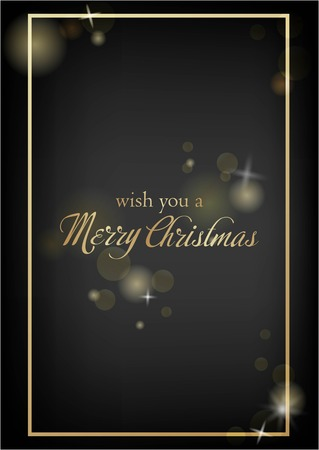 Vector illustration of new year Greeting card. Christmas holiday banner with confetti and glitter 2019.Dark shine background. Standard-Bild - 127346348