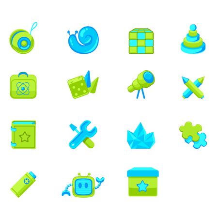 set of icons for web interface or online store children s products photo
