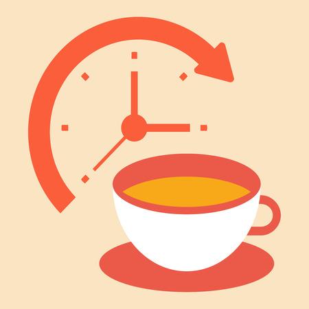 coffee break: time for a coffee break Illustration