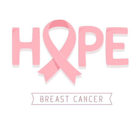 Vector Illustration For Breast Cancer Awareness Month With Pink