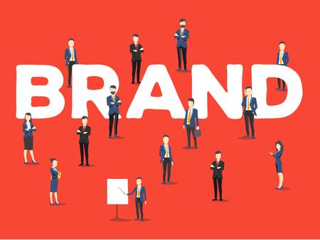 비즈니스 브랜딩 테마를위한 단어 브랜드의 세련된 디자인