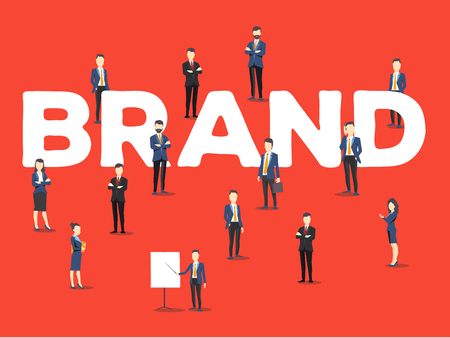 Stylish design of word brand for business branding theme Illustration