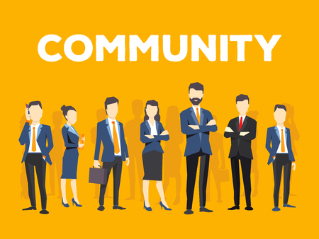 Stylish design for business community theme