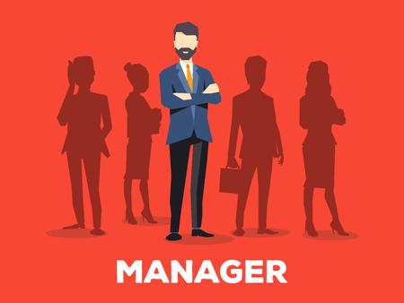 Stylish design for business vacancy Illustration