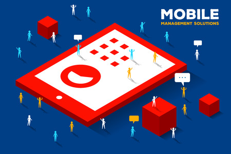 mobile marketing: Mobile technology concept Illustration