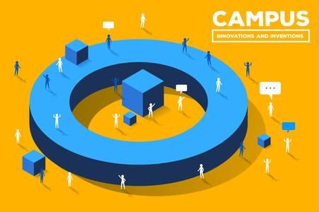 Educational campus concept