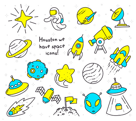 Illustration with space object.