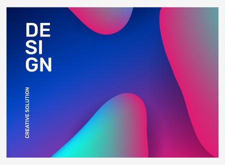 Illustrazione creativa di vettore dell'astrazione di affari. Sfondo sfumato geometrico astratto con forma dinamica, intestazione. Design della composizione del modello per web, sito, banner, poster, presentazione