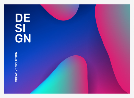 Vector creative illustration of business abstraction. Abstract geometric gradient background with dynamic shape, header. Template composition design for web, site, banner, poster, presentation Ilustração
