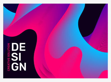 Vector creative illustration of bright business abstraction with text. Abstract geometric gradient background with dynamic shape. Template composition design for web, site, poster, presentation