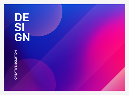 Vector creative bright pink and purple illustration with bokeh. Business abstract gradient background. Abstraction in frame with header. Template composition design for web, site, banner, poster, presentation