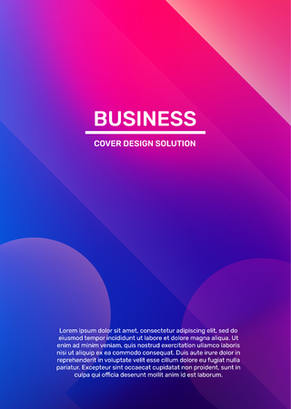 Vector creative bright pink and purple illustration with bokeh and header. Business abstract gradient background. Abstraction template composition design for web, site, banner, poster, presentation