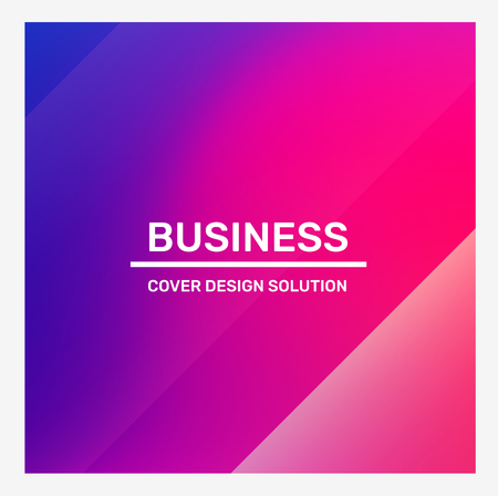 Vector creative bright pink and purple illustration with frame and header. Abstraction template composition design. Business abstract gradient background for web, site, banner, poster, presentation