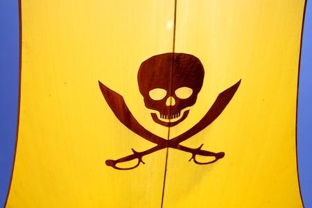 plundering: piratenvlag met een schedel