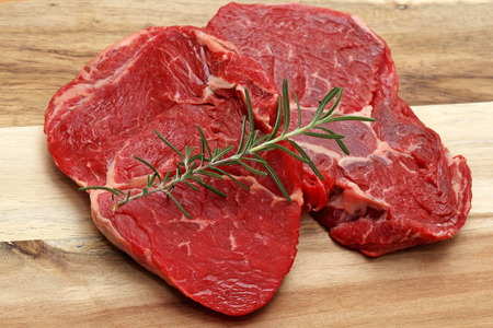 scotch: Raw sliced of beef meat, Scotch fillet