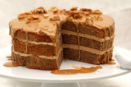 layer cake: Coffee Walnut Layer Cake.