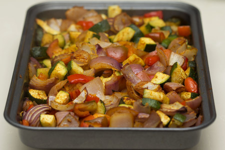 seasoned: Roasted seasoned vegetables
