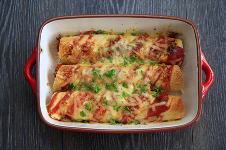 Chicken  Chorizo Enchiladas