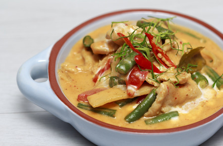 Chicken Panang curry, Thai food