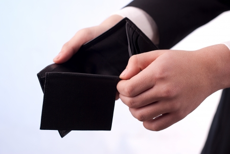 Man with an empty black wallet Stock Photo - 21826604