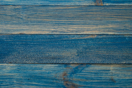 Blue painted old wooden wall - background or texture