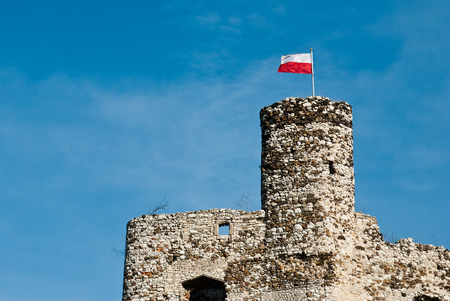 The old castle ruins in Mirow, Poland